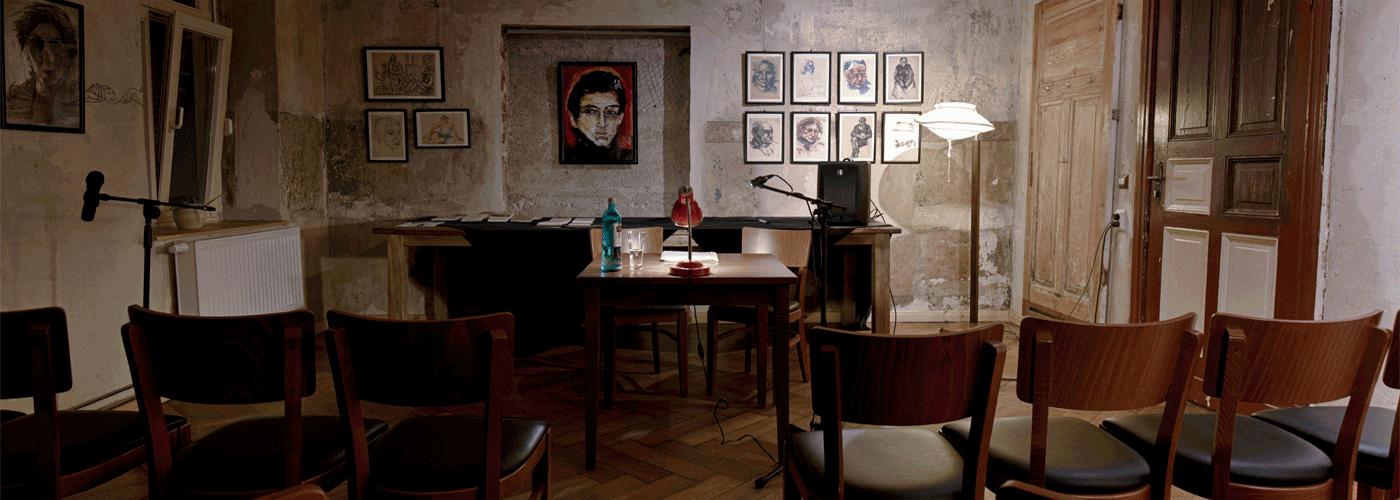 Neuer Salon in der Brotfabrik bei einer Literaturveranstaltung