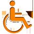 Icon Hinweis für Rollstuhlfahrer