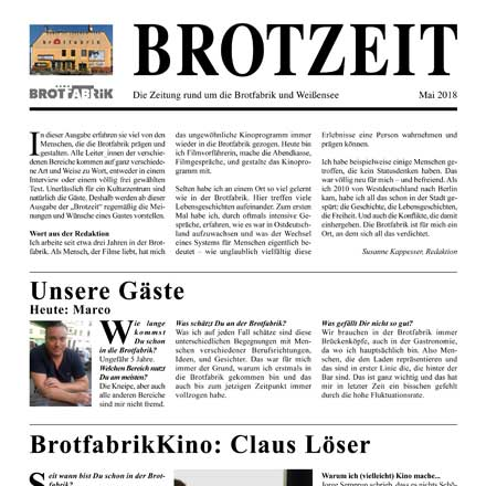 Brotfabrik- Brotzeit - die hauspost