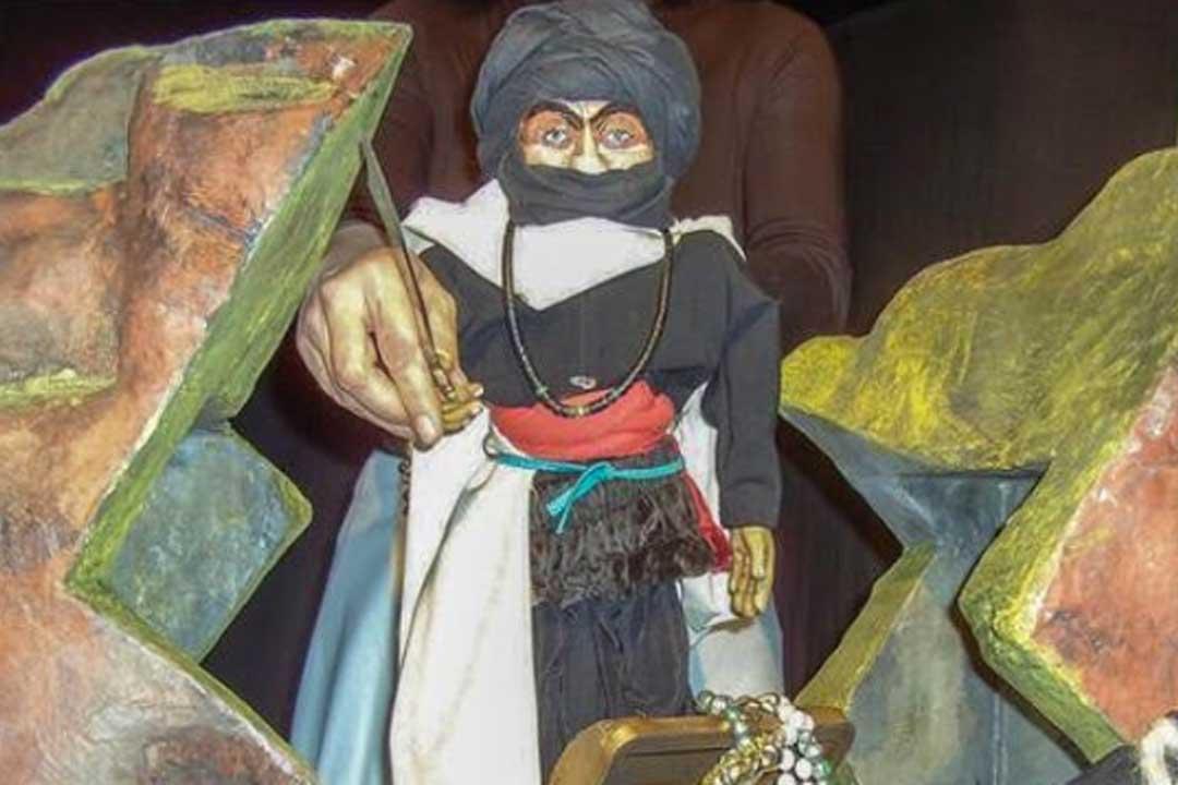 Ali Baba und die 40 Räuber ein Märchen aus 1001er Nacht mit dem Marionettentheater Kaleidoskop für Kinder ab 3 Jahren